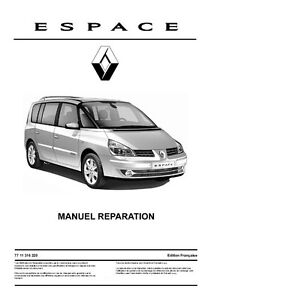 manuel atelier entretien reparation renault espace 4 phase 1 et 2 fr ebay. Black Bedroom Furniture Sets. Home Design Ideas