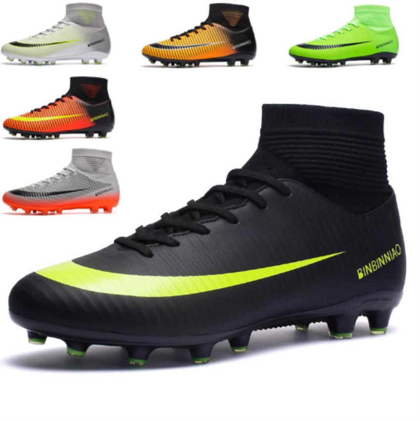 Fußballschuhe Herren Kinder Nockenschuhe  Outdoor / Indoor Fussball Schuhe 35-44