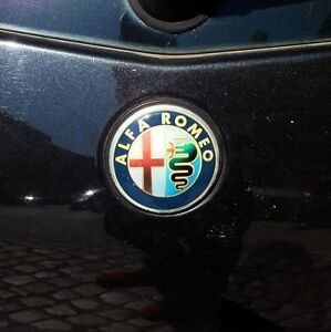 ALFA ROMEO ★72mm★ BADGE 2x REPAIR STICKER 147 146 145 166 156 155 Emblem easyFIX