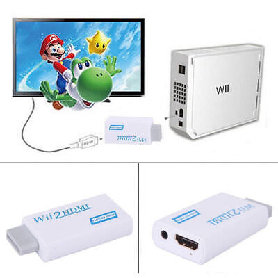 720p 1080p Full HD TV Nintendo Wii auf HDMI Adapter Konverter Stick Upskaler DE - 720p Hdtv Tv