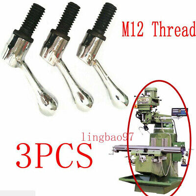 3pcs Bridgeport Part Head Milling Machine Table Lock Bolt Handle M12 Thread
