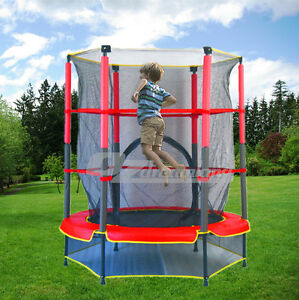 Indoor Outdoor Kids Junior Trampoline with Enclosure and Safety net 4.5ft