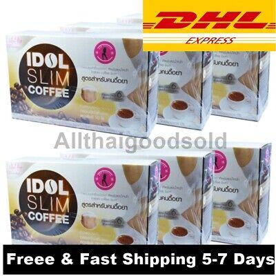 6 Boxes IDOL SLIM COFFEE Drink Diet Slim BURN Fat Resistance 5-7 Days Shipping