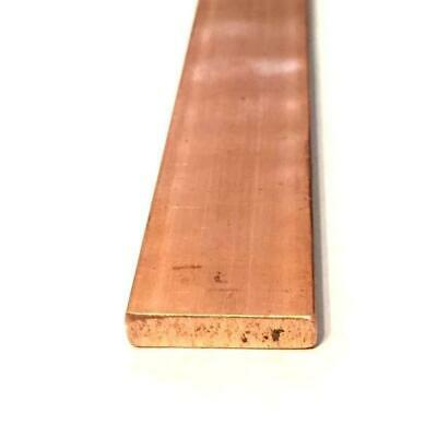 Copper Flat Bar Stock 14 X 1 X 6- Knife Making Hobby Craft C110- 1 Bar