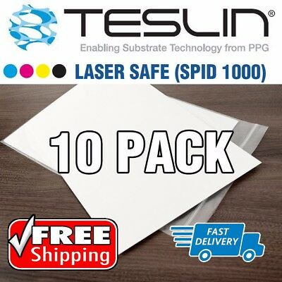 Title 10 Sheets Laser Safe Teslin Synthetic Paper - Waterproof Plastic Id Card
