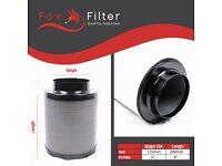 """Fox Hydroponics 5"""" Inch (125mm x 200mm) Filter Indoor Growing"""