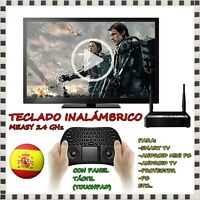 Teclado Inalambrico Panel Tactil Raton Measy 2.4ghz Keyboard Smart Tv Android Pc - smart - ebay.es