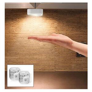 2 pack 10 led motion sensor battery operated indoor. Black Bedroom Furniture Sets. Home Design Ideas
