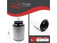 "Pro Fox Hydroponics 8"" Inch 200mm x 400mm Carbon Filter Indoor Growing"
