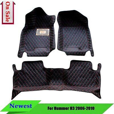 Auto Best Car Floor Mats Carpet Interior IN945 Fits Hummer H3 2006-2010 4 (Best Auto Floor Mats)