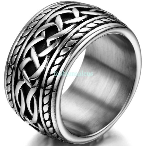 Men S 14 3mm Stainless Steel Casting Thumb Eternity Knot Ring Punk