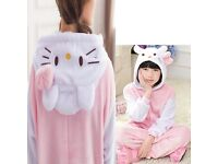 Hello Kitty Dress-Up Costume Onesie Pyjamas Kigurumi DR2 NEW