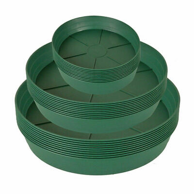 Heavy Duty Green Plastic Deep Saucers 14
