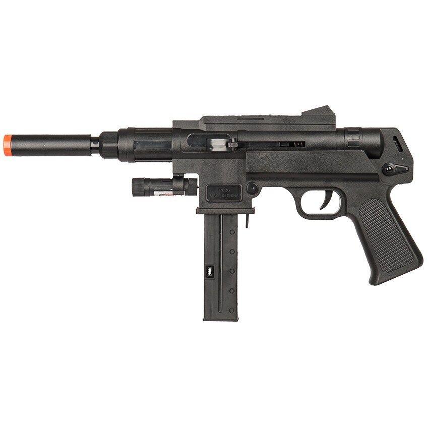 UK Arms P2626 Mini Spring SMG Airsoft Gun w/ Laser & Flashli