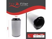 """HYDROPONIC 250mm / 600 FOX CARBON FILTER 10"""" INCH 1500m3/hr 4 Extractor Fan Grow"""