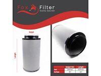 "PRO Fox Hydroponics 10"" Inch (250mm x 600mm)Carbon Filter Indoor Growing"