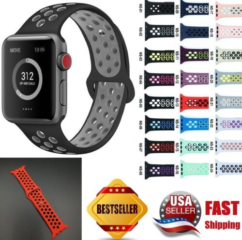 Replacement Silicone Band For Apple Watch Sport 38mm/40mm 42mm/44mm Series 4 3 2 Jewelry & Watches