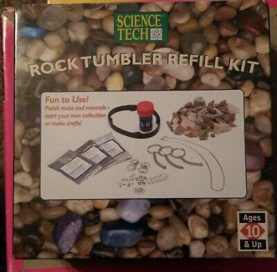 Edu Science Rock Tumbler (Rock Tumbler Refill Kit by Science Tech , New, Factory)