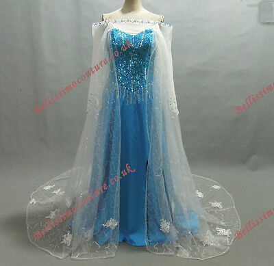 Disney Princess Frozen Queen Elsa Costume adult SIZE 6,8,10,12,14,16 Elsa dress