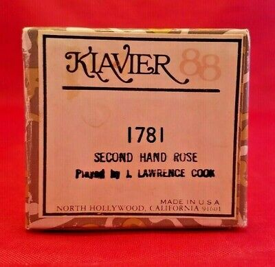 Vintage Kiavier 88 Piano Player Music Roll SECOND HAND ROSE (1781) Lawrence Cook for sale  Shipping to South Africa