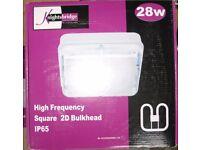 Square 2D Bulkhead light fittings