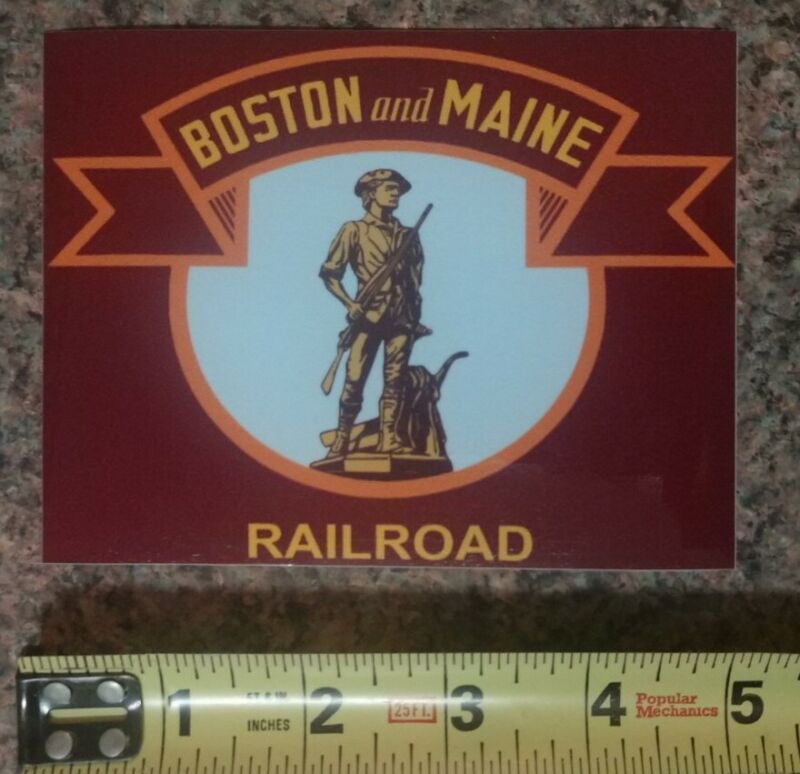 The Boston and Maine Railway Railroad Train Sticker Decal High Quality Gloss NEW
