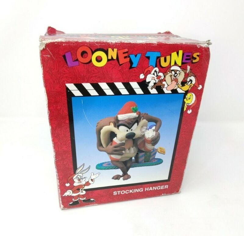 Vintage 1997 Looney Tunes Taz Christmas Stocking Hanger