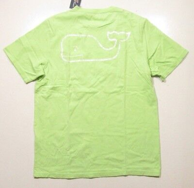 Vine Jungen T-shirt (Vineyard Vines Boys L/S Mojito Green Vintage Whale Pocket T-Shirt)