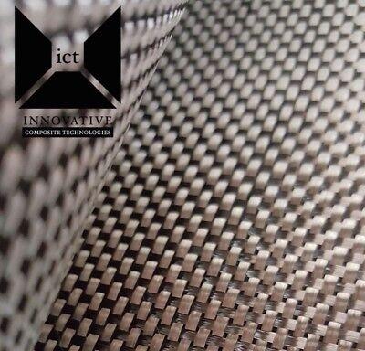 5 Yards Carbon Fiber Fabric Cloth Plain Weave - 5.7 Oz 3k 50 Wide
