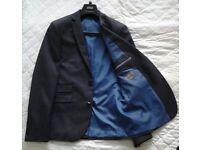 Men's super slim smart suit in charcoal grey
