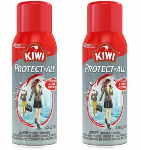 2 KIWI Protect-All Protects Leather & Fabric Footwear Against Water Dirt 4.25 oz