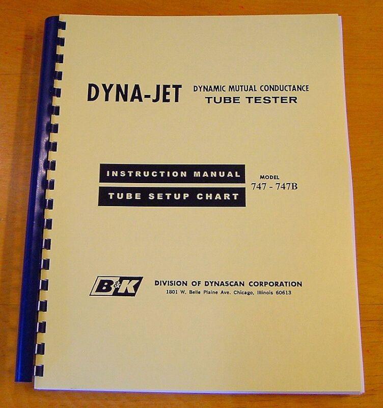 Ultimate B&K 747 / 747B Tube Tester Chart & Manual 99pp new remastered