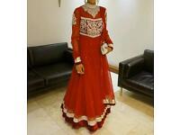 Red Asain Wedding Dress
