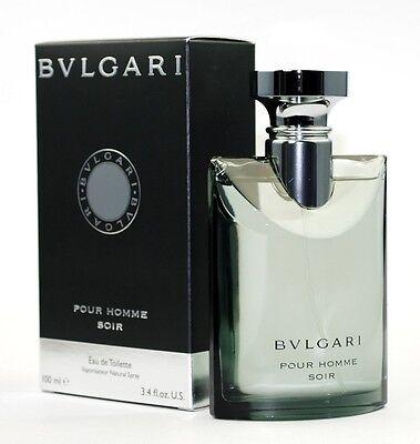 Bvlgari Soir Pour Homme Men 3.4 oz 100 ml Eau De Toilette Spray Box Sealed
