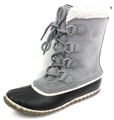 Sorel Damen Schnee (Sorel Caribou Gr.39,5 Damen Schuhe Warm Gefütterte Schneestiefel Stiefel Grau)