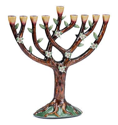 Tree of Life Menorah - Jewish Gift - Chanukah Chanukkah Hanukkah