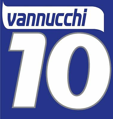 Vannucci #10 Empoli 2006 home Football Nameset for shirt image