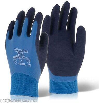 Wonder Grip Aqua Fully Coated Latex Grip Gloves Wet Work Breathable Waterproof