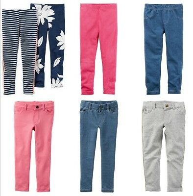 - NWT Carter's Girls' French Terry Jeggings Jeans Pants Leggings Size 5 6X