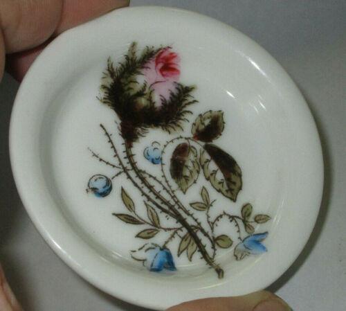 10 Porcelain Moss Rose Round Butter Pats