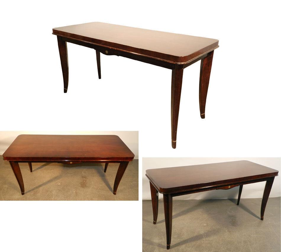 table de salon art deco en acajou vers 1940 1950 eur 180 00 picclick fr. Black Bedroom Furniture Sets. Home Design Ideas