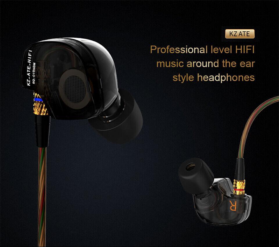 KZ-ATE DJ Earphones Wired Music Stereo In-ear Headphones Ela