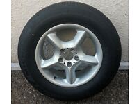 "1 X 17"" BMW X5 - ALLOY WHEEL AND NEW SPARE TYRE"