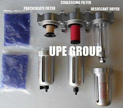 """1/2""""COMPRESSED AIR INLINE PARTICULATE FILTER / DESICCANT DRYER / COALESCING"""
