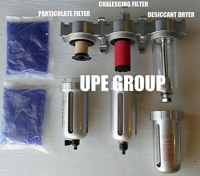 """3/8"""" COMPRESSED AIR INLINE PARTICULATE FILTER / DESICCANT DRYER / COALESCING"""