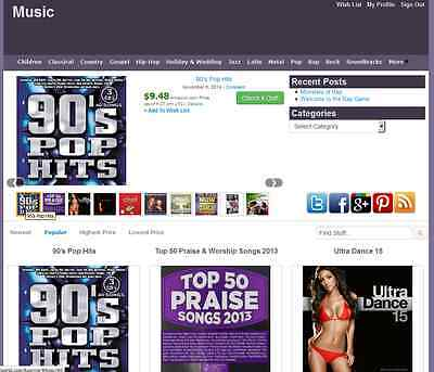Music Store Amazon Affiliate Website Make Money Free Installation Hosting