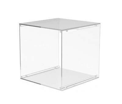 4-sided Clear Cube Acrylic T-shirt Display Transparent Clothing Showcase Exhibit