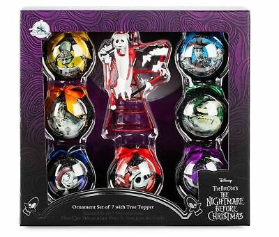 Disney Jack Skellington Nightmare Before Christmas Ornament And Tree Topper Set