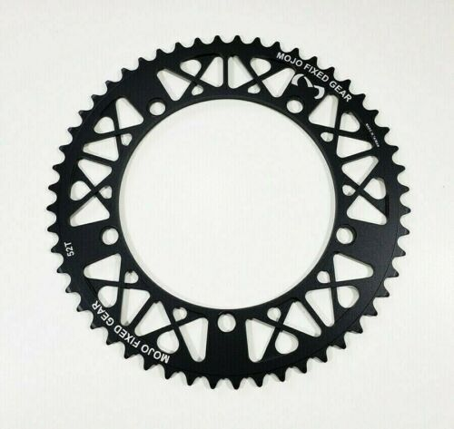 """MOJO Fixed Gear Chainring 52T - 144 BCD Track Fixie single speed 1/8"""" - BLACK"""