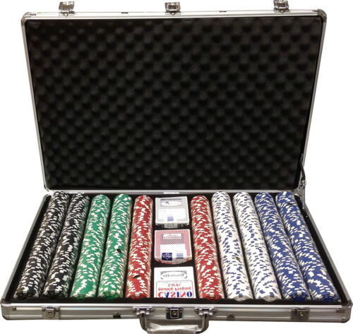 1000 Clay 11.5gr Desert Palace Poker ChipsSet With Case 5¢ - $50,000 You CHOOSE*